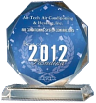 For excellent AC repair in Pasadena, CA, we were awarded the 2012 service award.