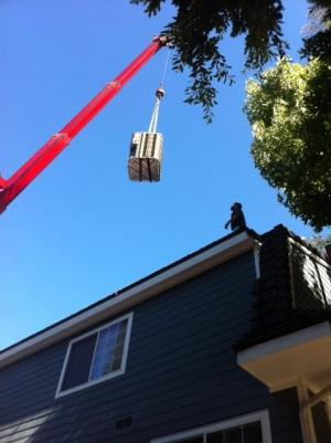 Craning Residential Roof Condenser