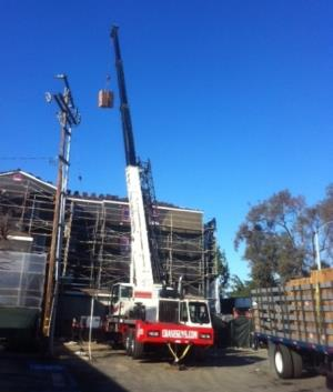 Craning Roof Condenser for Campus Common